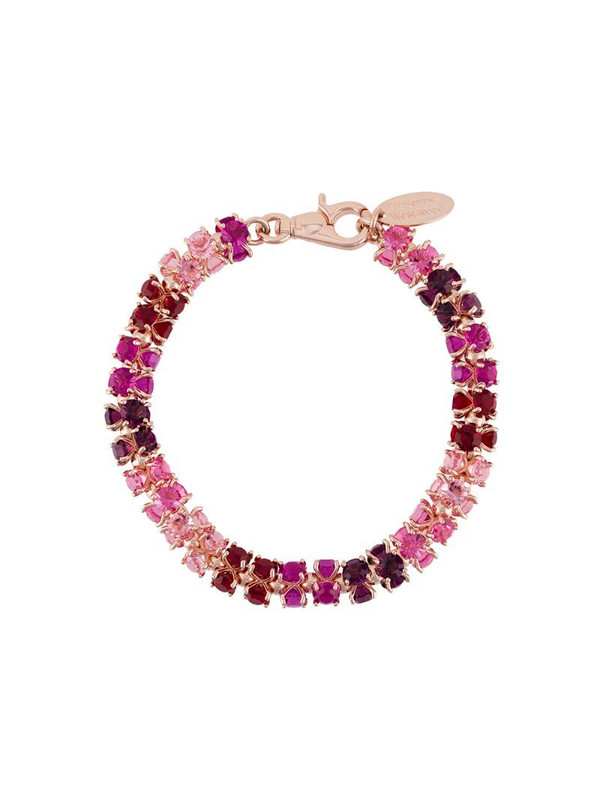 Vivienne Westwood chunky glass crystals necklace in pink