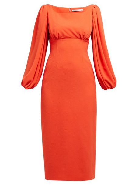 Emilia Wickstead - Magita Empire Waist Dress - Womens - Orange