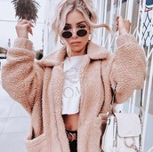 jacket,teddy,fluffy,winter outfits,coat