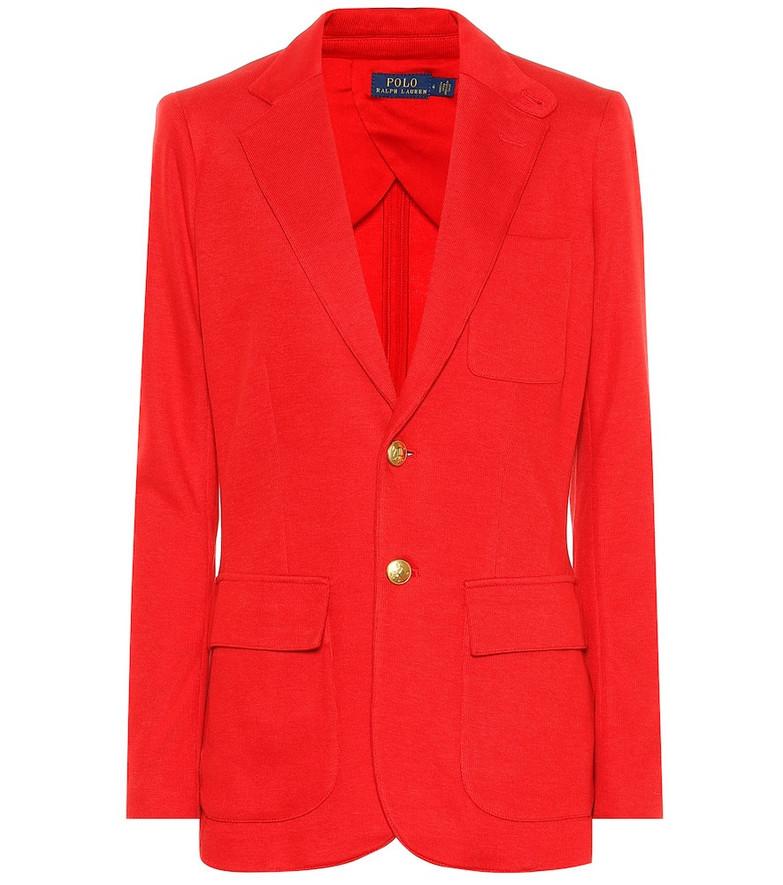 Polo Ralph Lauren Cotton blend blazer in red