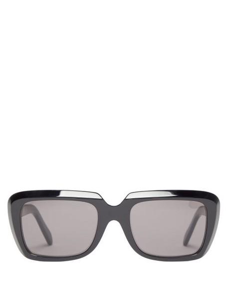 Celine Eyewear - Rectangular Acetate Sunglasses - Womens - Black