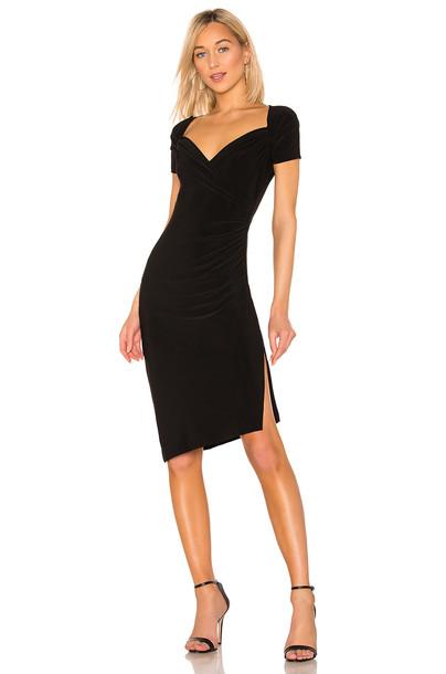 Norma Kamali x REVOLVE Sweetheart Side Drape Dress in black