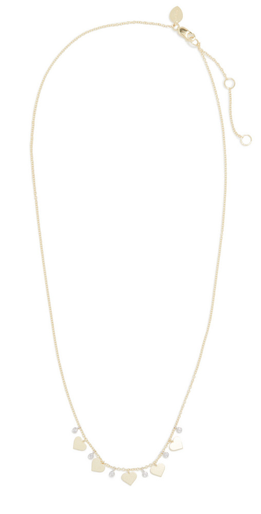 Meira T Heart Charm Necklace in gold
