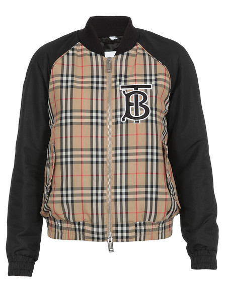 Burberry Check Patter Jacket in black