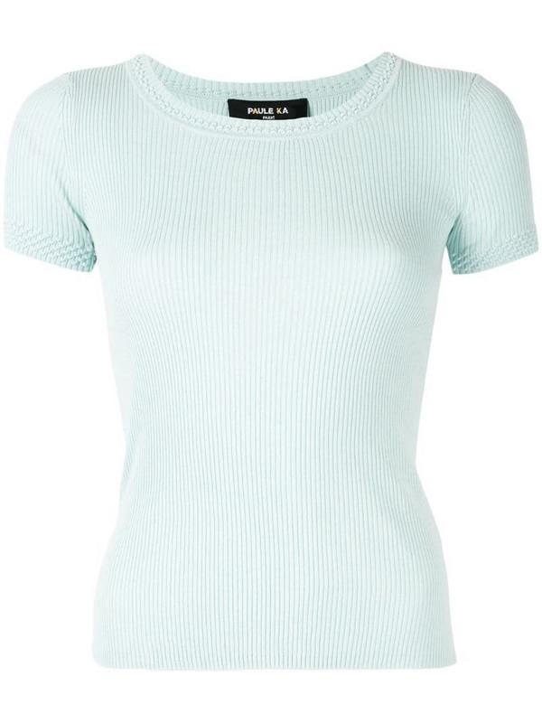 Paule Ka short-sleeve fitted top in green