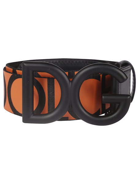 Dolce & Gabbana Logo Buckle Belt in orange