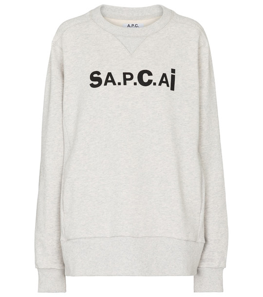 A.P.C. x sacai Tani cotton sweatshirt in grey