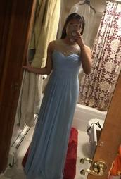 dress,blush prom dress,long prom dress,blush,light blue,prom dress