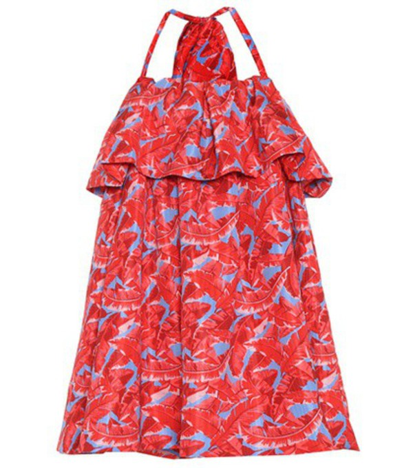 MSGM Printed halter dress in red