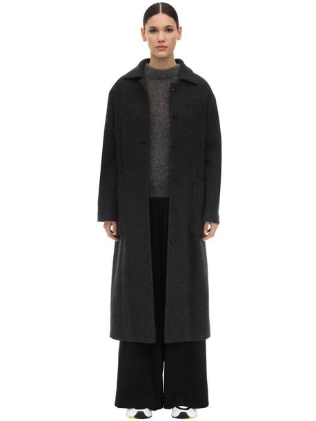 LARDINI Long Virgin Wool Blend Coat in grey