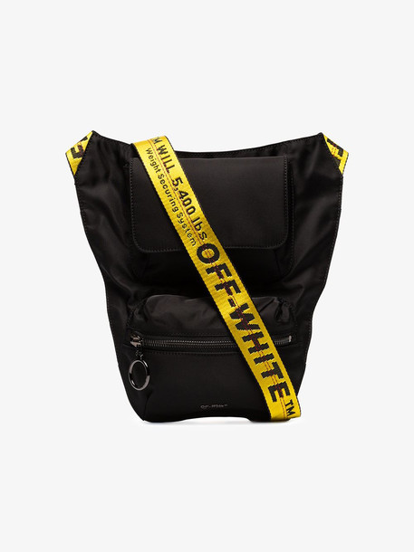 Off-White Black Industrial Logo Strap Cross Body Bag