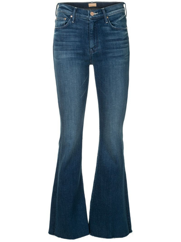 Mother The Weekender frayed jeans in blue