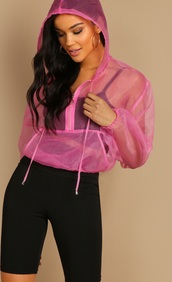 sweater,girly,girl,girly wishlist,pink,mesh,hoodie,see through,cropped,crop,cropped sweater