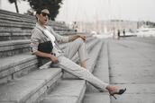 shoes and basics,blogger,jacket,pants,bag,shoes,sunglasses,suit,office outfits