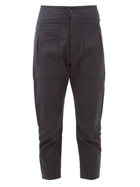 Isabel Marant Étoile - Raluni High-rise Cotton-blend Trousers - Womens - Black