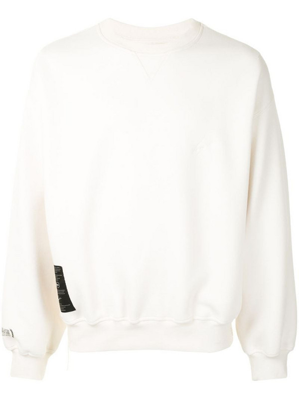 SONGZIO Ghost embroidered motif sweatshirt in white