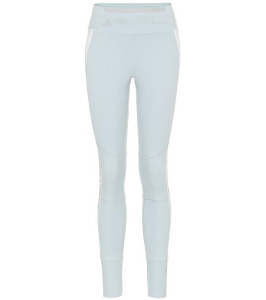 Adidas by Stella McCartney High-rise leggings in blue