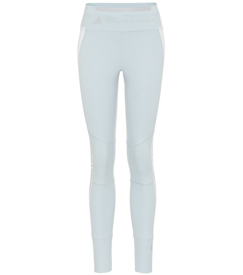 Adidas by Stella McCartney High-rise leggings in blue