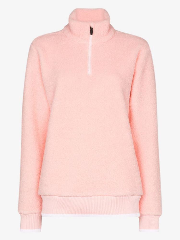Sweaty Betty Sierra Sherpa sweater in pink