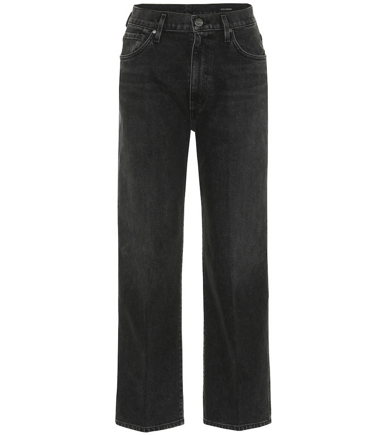 Goldsign The Cropped A high-rise jeans in black