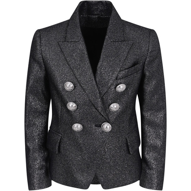 Balmain Black Lurex Girl Jacket