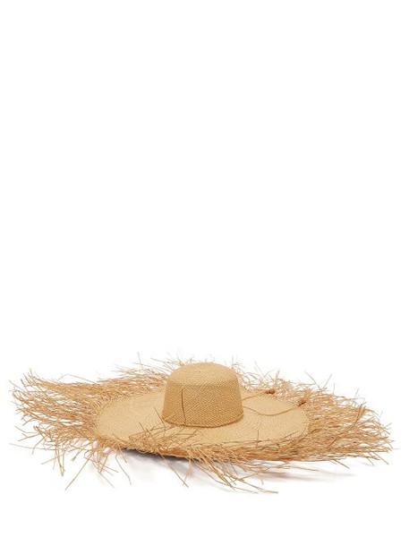Sensi Studio - Lady Ibiza Oversized Straw Hat - Womens - Beige