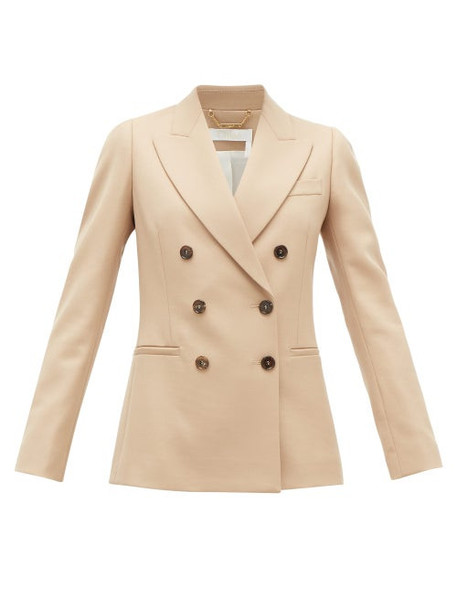 Chloé Chloé - Festive Double-breasted Wool-blend Twill Jacket - Womens - Tan