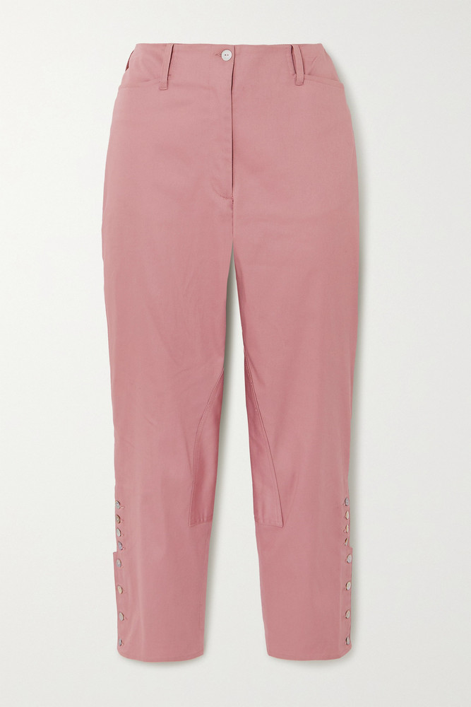 Àcheval Pampa Àcheval Pampa - Al Beso Cotton-blend Tapered Pants - Pink