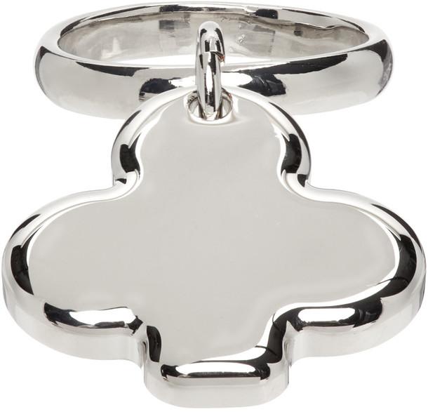 MM6 Maison Margiela Silver Club Charm Ring