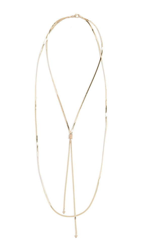 LANA JEWELRY 14k Herringbone Blake Necklace in gold / yellow