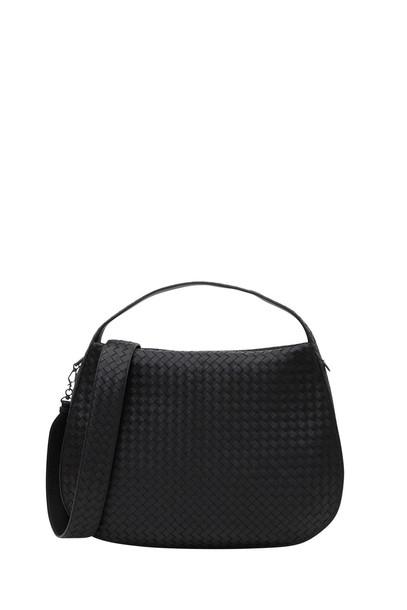 Bottega Veneta Large City Veneta Shoulder Bag in nero