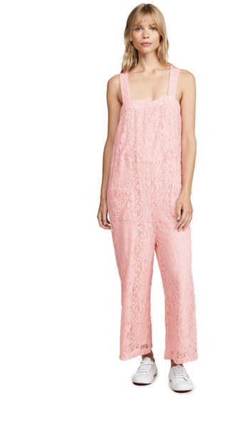 Line & Dot Corona Jumpsuit in pink