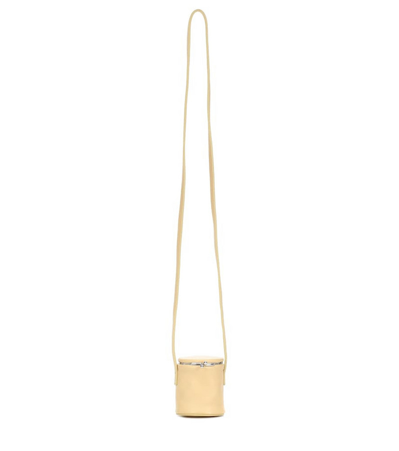 COLOVOS Leather bucket bag in beige