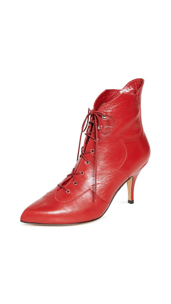 Tabitha Simmons Zora Boots in red