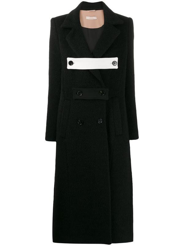 Ssheena decorative martingale coat in black