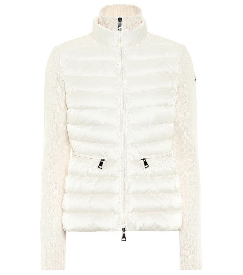 Moncler Wool and down jacket in white