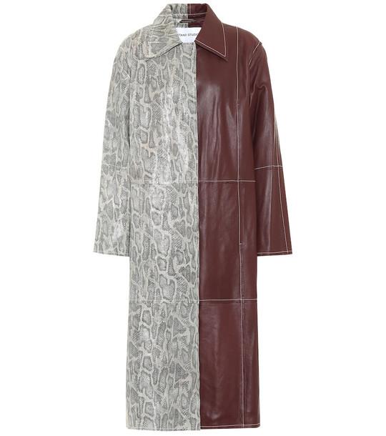 Stand Studio Noni leather coat in red