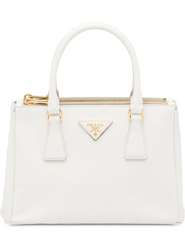 Prada Galleria tote in white