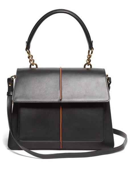Marni - Attaché Medium Leather Cross Body Bag - Womens - Black