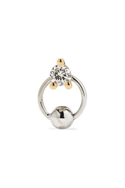 Delfina Delettrez - 18-karat Yellow And White Gold Diamond Earring