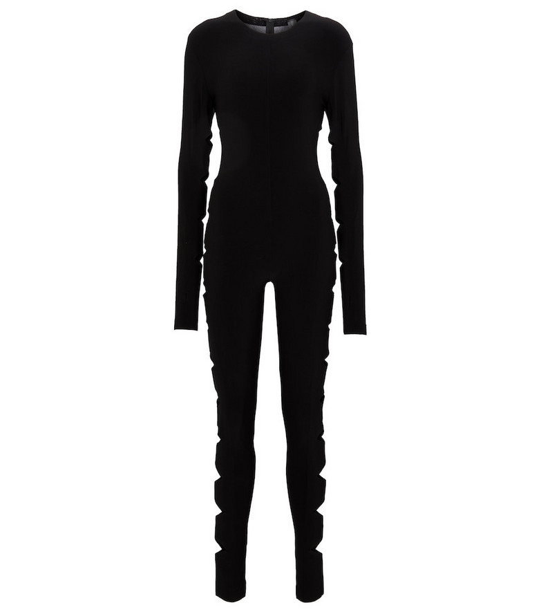 Norma Kamali Alligator long-sleeved jumpsuit in black