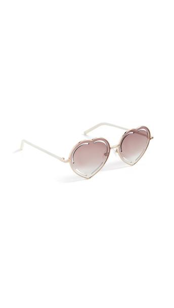 Linda Farrow Luxe Matthew Williamson x Linda Farrow Petuni Sunglasses in brown / gold / pink