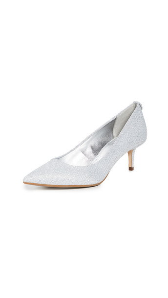 MICHAEL Michael Kors Flex Point Toe Pumps in silver