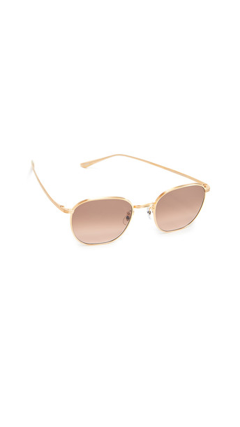Oliver Peoples The Row Board Meeting 2 Sunglasses in brown / gold
