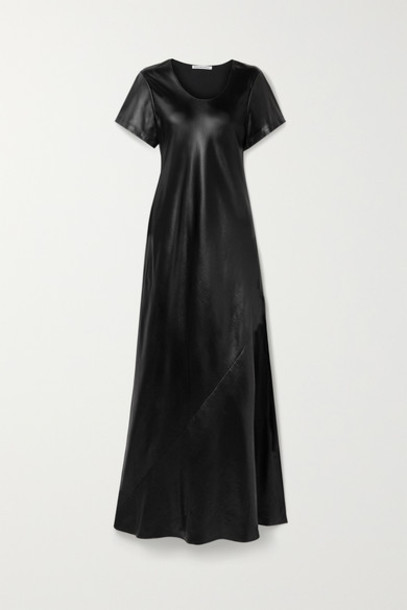 alexanderwang.t - Coated Twill Maxi Dress - Black