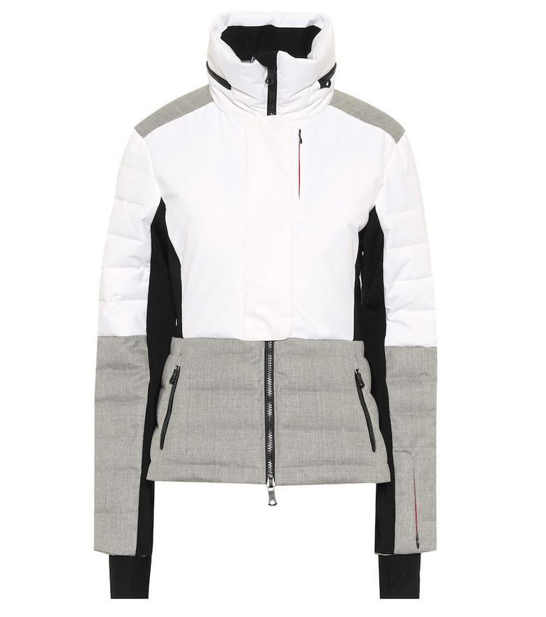Erin Snow Sari wool-trimmed ski jacket in white