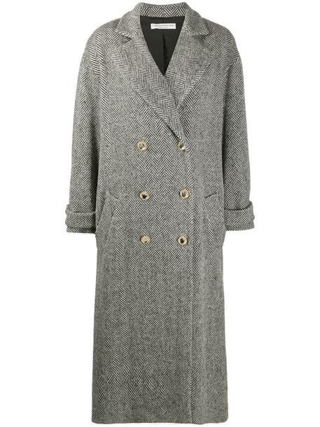 Alessandra Rich oversized robe coat in black