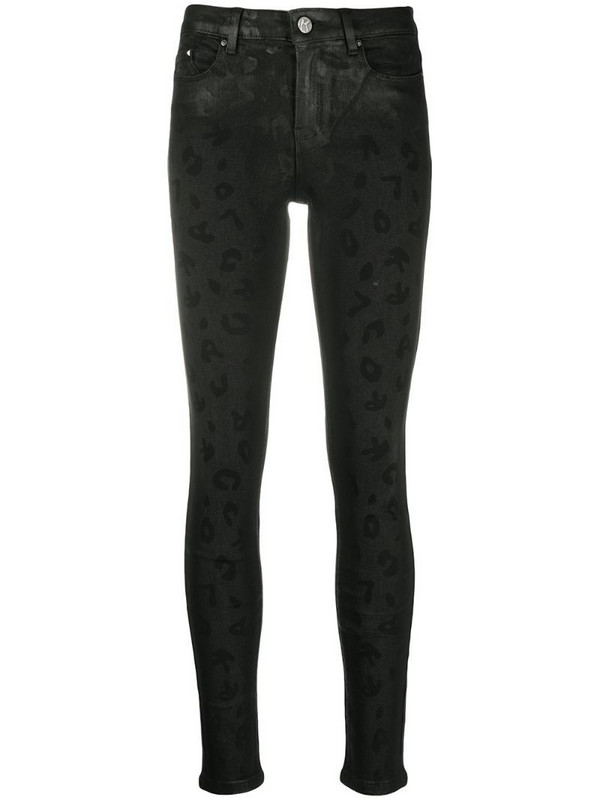 Karl Lagerfeld cropped jeans in black