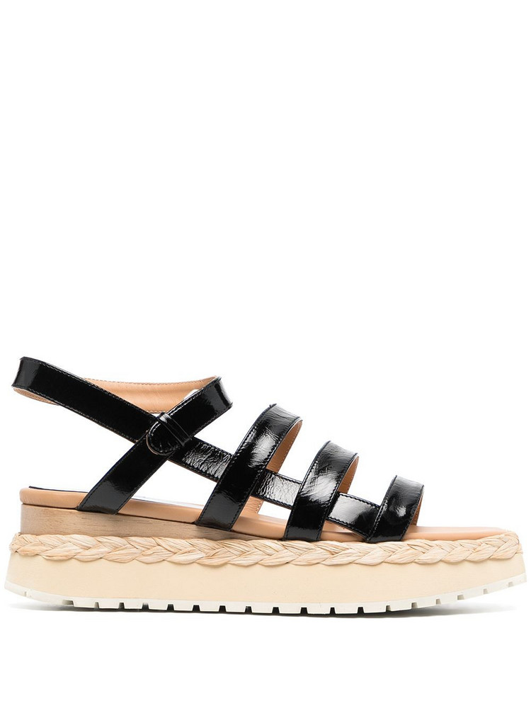 Paloma Barceló Paloma Barceló Abacaxis strappy sandals - Black