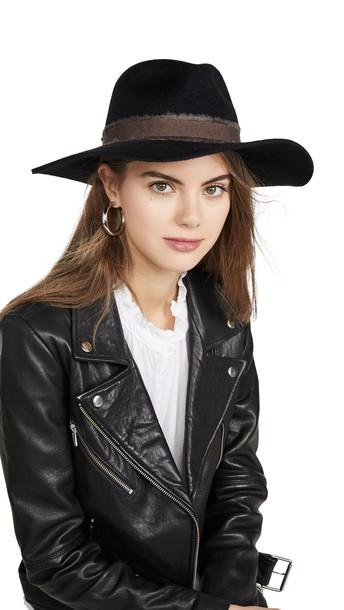 Brixton Elle Fedora in black / brown